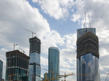 Building of height complex. Royalty Free Stock Photos