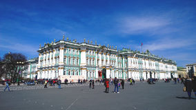 The building of the Hermitage Museum in St. Petersburg. The Winter Palace. The building of the Hermitage Museum in St. Petersburg. The Famous Winter Palace Stock Images