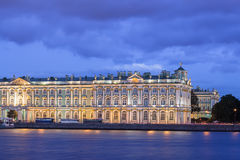 Building of the Hermitage at night, St. Petersburg Royalty Free Stock Photos