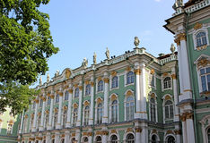 Building of the Hermitage in St. Petersburg Royalty Free Stock Photo