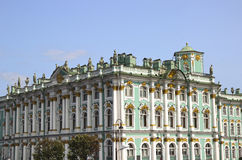 Building of the Hermitage in St. Petersburg Stock Images