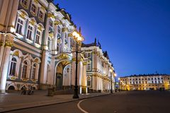 Building of the Hermitage in St. Petersburg, Russia stock photo