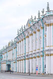 The building of Hermitage and Winter Palace in St. Petersburg, Russia Royalty Free Stock Photos
