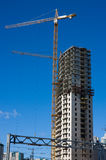 Building of high-rise house Stock Photos