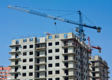 Building High-rise Prefabricated House Stock Photo