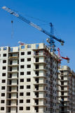 Building high-rise prefabricated house Stock Photography