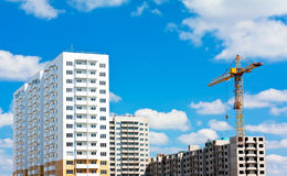 Building High-rise Prefabricated House Royalty Free Stock Photography