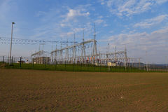 Building on a high-voltage substation Royalty Free Stock Photos