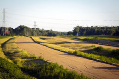 Building Highway. At sunset in Indiana Royalty Free Stock Images