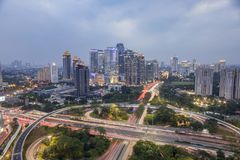 Building and highway. The building and the highway as a hallmark of a big city Stock Image