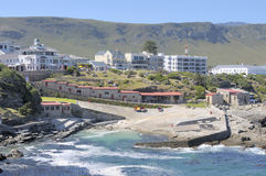 Building in the historical old harbour in Hermanus Stock Image