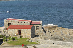 Building in the historical old harbour in Hermanus Royalty Free Stock Image