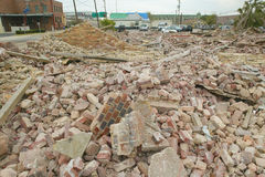 Building hit hard by Hurricane Ivan Stock Photo