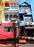 The building in Ho Chi Min City full of wires. Stock Photography