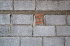 Building Hollow brick walls  image closeup texture Stock Image