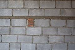 Building Hollow brick walls  image closeup texture Royalty Free Stock Images