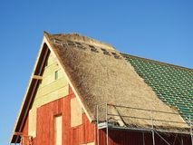 Building home, Lithuania Royalty Free Stock Images