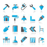 Building and home renovation icons. Vector icon set Stock Photography