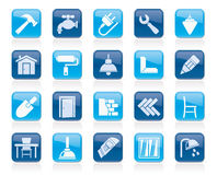 Building and home renovation icons. Vector icon set Royalty Free Stock Image