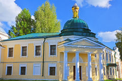 Building of hospice of 19th century in Borisoglebsk monastery in the centre of Torzhok city, Russia. In Borisoglebsk monastery in historical part of Torzhok city Stock Photography