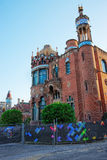 Building of the Hospital de Sant Pau in Barcelona. In Spain. In English it is called as Hospital of the Holy Cross and Saint Paul. It used to be a hospital. Now Royalty Free Stock Images
