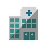 Building hospital medicine healthcare shadow. Illustration eps 10 Royalty Free Stock Photography