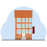 The building of the hostel Stock Photography
