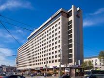 The building of the hotel `Azimut` on Plekhanovskaya street in the city of Voronezh Royalty Free Stock Photography