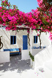 Building of hotel in traditional Greek style Royalty Free Stock Photos