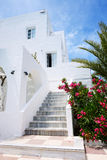 Building of hotel in traditional Greek style Stock Photography