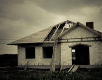 Building of a house Royalty Free Stock Images