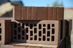 Building a house. Made of bricks Royalty Free Stock Image