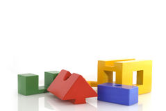 Building a house Royalty Free Stock Photo