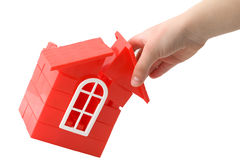 Building house. Stock photo: an image of a child building a little house Royalty Free Stock Photos