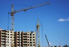 Building a house against the sky Stock Photo
