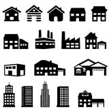Building and house architecture. Exterior architecture of buildings and houses Stock Images