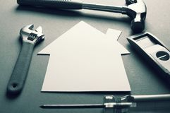 Building house background concept royalty free stock photography