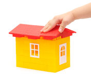 Building a house from blocks Royalty Free Stock Photo