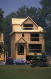 Building a house in Canada royalty free stock image
