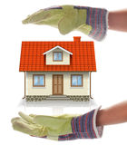Building a House Stock Image