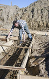 Building house foundations royalty free stock photo