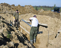 Building house foundations Stock Photos