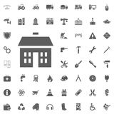 Building, house icon. Construction and Tools vector icons set vector illustration
