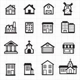 Building, house icons Stock Photography