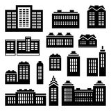 Building and house icons vector Royalty Free Stock Photo