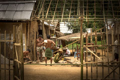 Building a house in Myanmar Royalty Free Stock Photos
