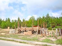 Building  of house on a new area Royalty Free Stock Image