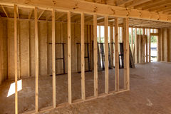 Building a house in skeleton technology Royalty Free Stock Photos