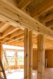 Building a house in skeleton technology Royalty Free Stock Photography