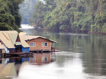 Building houseboat on the lake Stock Image